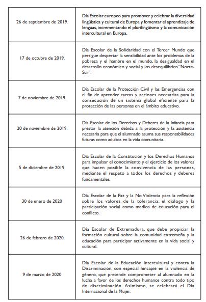 Calendario Laboral 2020 Extremadura.Aprobado El Calendario Escolar Para El Curso 2019 2020 Sgtex